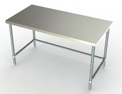 Economy In Wide Stainless Steel Work Table With Gavanized Legss - Stainless steel work table price