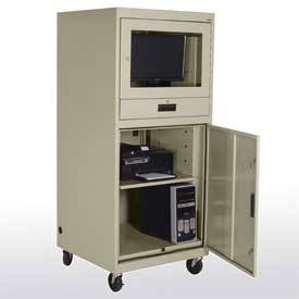 Extra Heavy Duty Mobile Computer Security Cabinet (30in W X 30in D X 70in H