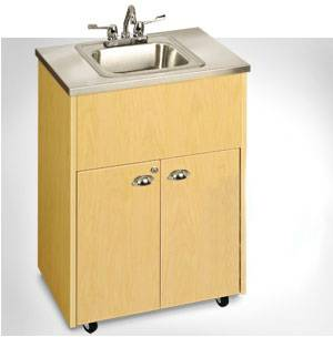 Single Basin Portable Sink W/ Stainless Steel Top