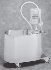 10 Gallon Mobile Podiatry Whirlpool Handle