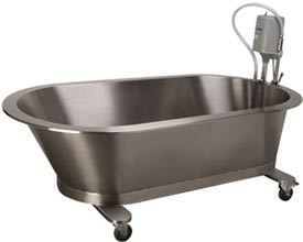 100 Gallon Mobile Slant Back Hydrotherapy Whirlpool Tub