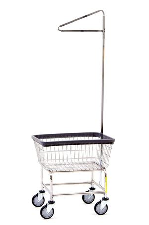 Antimicrobial Laundry Cart w/ Pole Rack