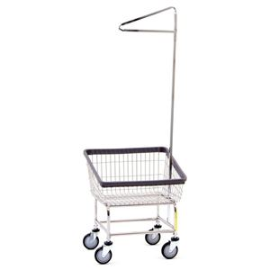 Front Load Laundry Cart w/ Pole Rack