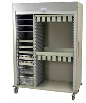 Triple Column Catheter Cart w/ Double Wide Shell