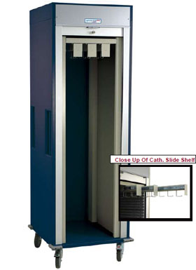 Single Column Catheter Procedure Cart Tambour Door