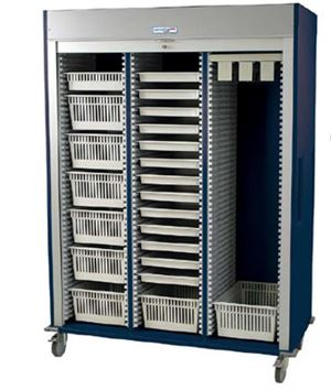 Triple Column Cystology Cart Tambour Door