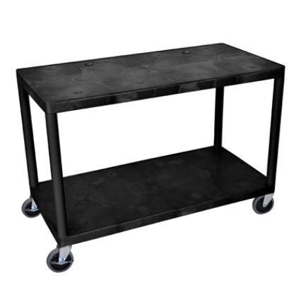 2 Shelf Extra Wide Utility Cart