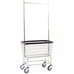 Large Capacity Laundry Cart w/ Double Pole