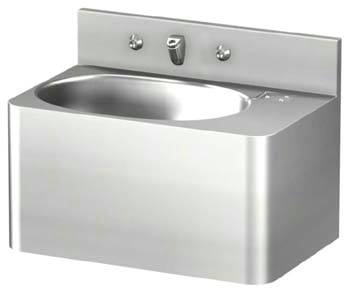20in Rectangular Lavatory Sink with Oval Bowl