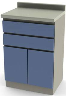 24in Cabinet 2 Drawers  2 Doors