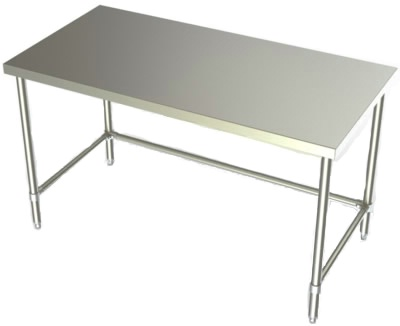 24in Wide Stainless Steel Work Table