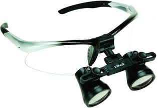 Sport Dental Loupe-Silver and Black