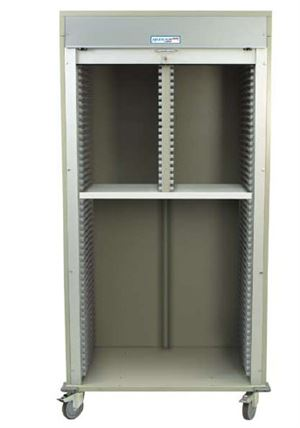 Double Column Medical Storage Cart Open Shell