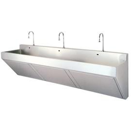 Three Station Compact Scrub Sink