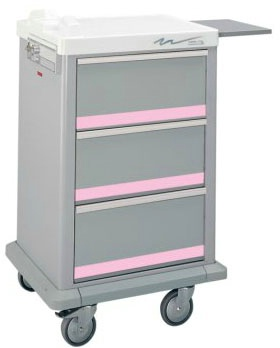 3 Drawer Half Sized Punch Card Cart, 300 Cards