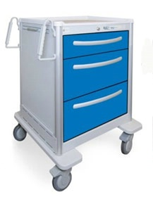 3 Drawer Mini Lightweight Aluminum Anesthesia Cart