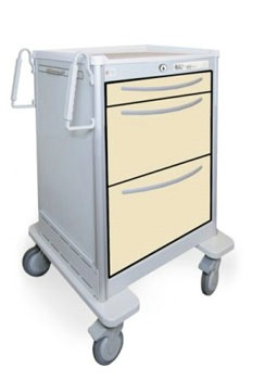 3 Drawer Mini Lightweight Aluminum Bedside/Slim Cart