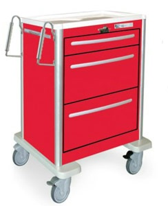3 Drawer Mini Lightweight Aluminum Crash Cart