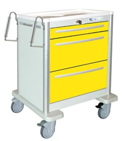 3 Drawer Mini Lightweight Aluminum Isolation Cart
