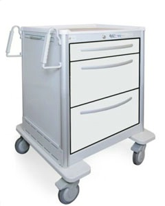 3 Drawer Mini Lightweight Aluminum Treatment Cart