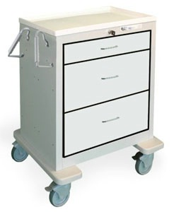 3 Drawer Mini Steel Treatment Cart