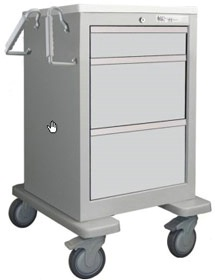 3 Drawer Slim Mini Economy Cart