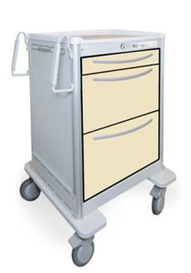 3 Drawer Slim Mini Lightweight Aluminum Treatment Cart