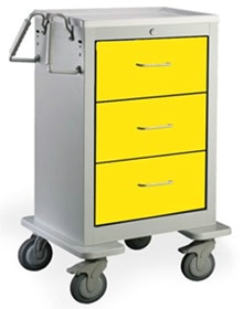 3 Drawer Slim Mini Steel Isolation Cart