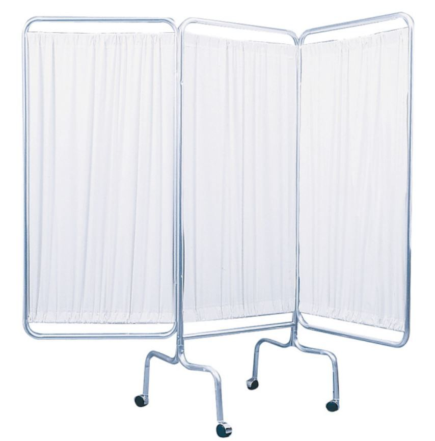 3 Panel Privacy Screen with Casters