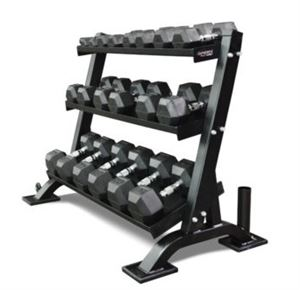 Hex-Style Dumbbell Rack