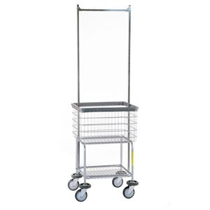 Deluxe Elevated Laundry Cart w/ Pole Rack