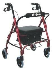 Jr. Red Aluminum Rollator