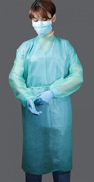 Isolation gown elastic cuff
