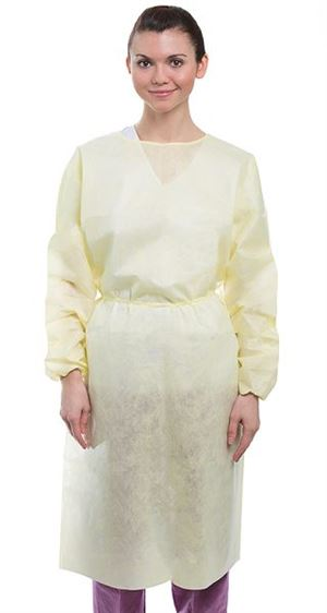 Chemo-guard impervious gown- elastic cuff