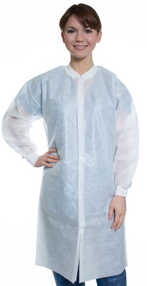 Easy-breathe sms lab coat no pocket