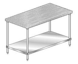 36in Wide Work Table Laminated Top  Undershelf