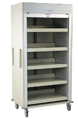 Full Shell Medical Storage Cart Equipped w/ Five Shelves
