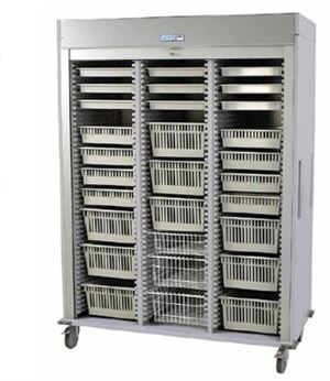 Triple Column Mobile Laparoscopy Cart Tambour Door