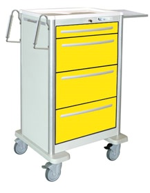 4 Drawer Extra Tall Lightweight Aluminum Isolation Cart