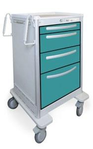 4 Drawer Medium Lightweight Aluminum BedsideSlim Cart