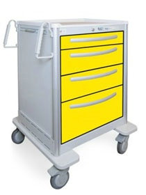 4 Drawer Medium Lightweight Aluminum Isolation Cart