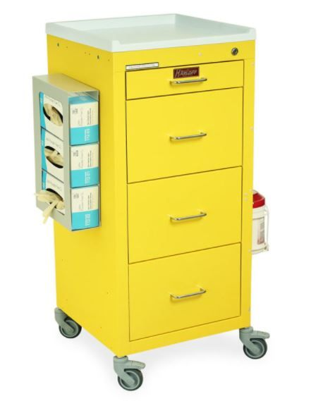 4 Drawer Mini Isolation Cart PPE Package