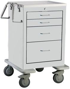 4 Drawer Mini Steel BedsideSlim Cart