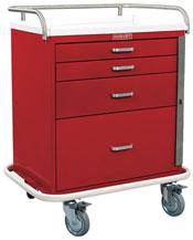 4 Drawer Short Emergency Cart Standard Package