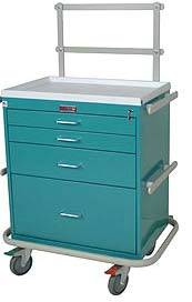 4 Drawer Medical Anesthesia Cart