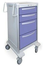 4 Drawer Slim Extra Tall Lightweight Aluminum Treatment Cart