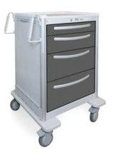 4 Drawer Slim Medium Lightweight Aluminum Treatment Carts