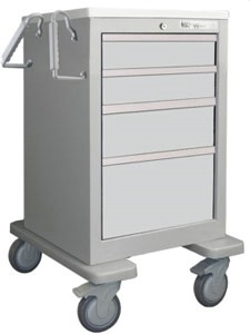 4 Drawer Slim Mini Economy Cart