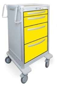 4 Drawer Slim Tall Lightweight Aluminum Isolation Cart