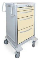 4 Drawer Slim Tall Lightweight Aluminum Treatment Cart